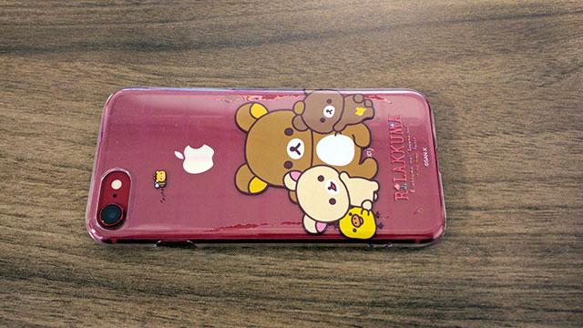 iPhone8とリラックマのスマホケース