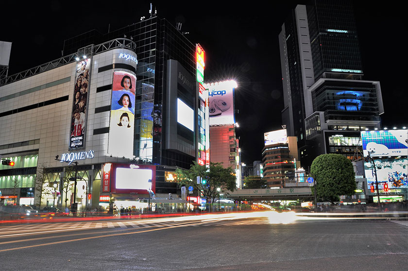渋谷スクランブル交差点と109メンズ館
