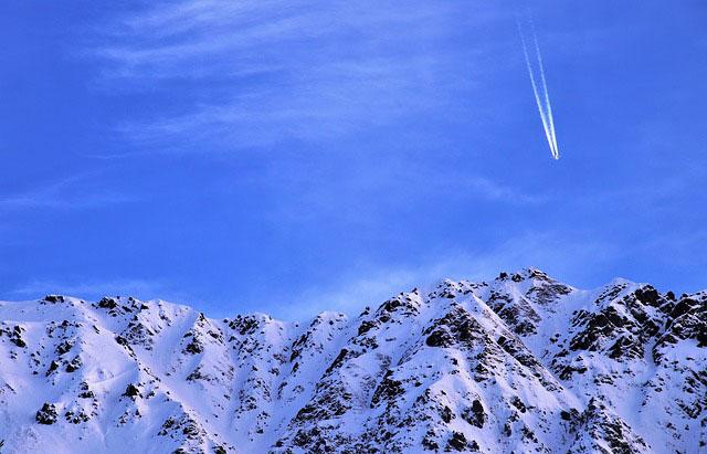 雪と飛行機