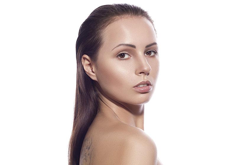 美しい肌の女性
