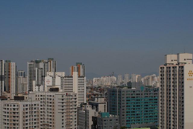韓国都市部の大気汚染