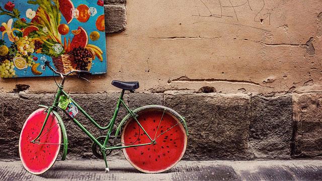 スイカっぽい自転車