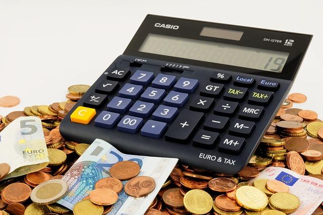 電卓と貯金