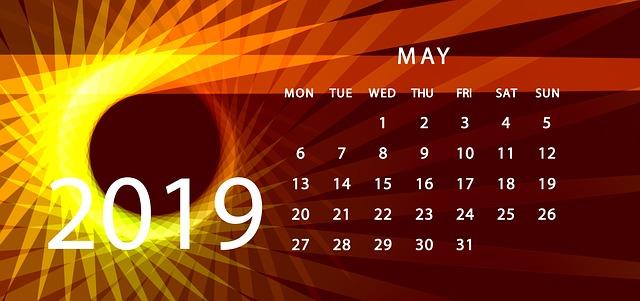 2019年5月のカレンダー