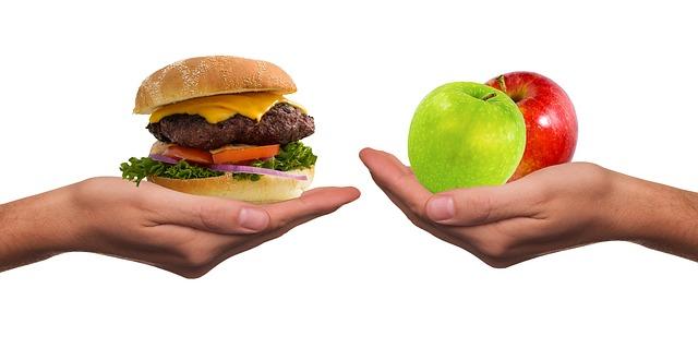 ハンバーガーと林檎