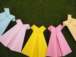 折り紙のワンピース