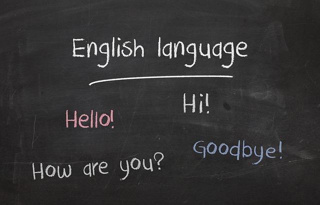 英語が書かれた黒板