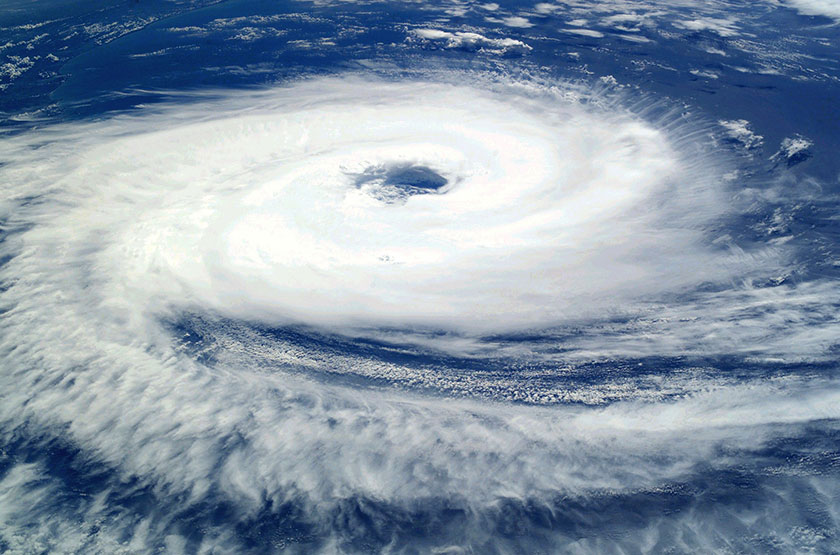 台風の衛星画像